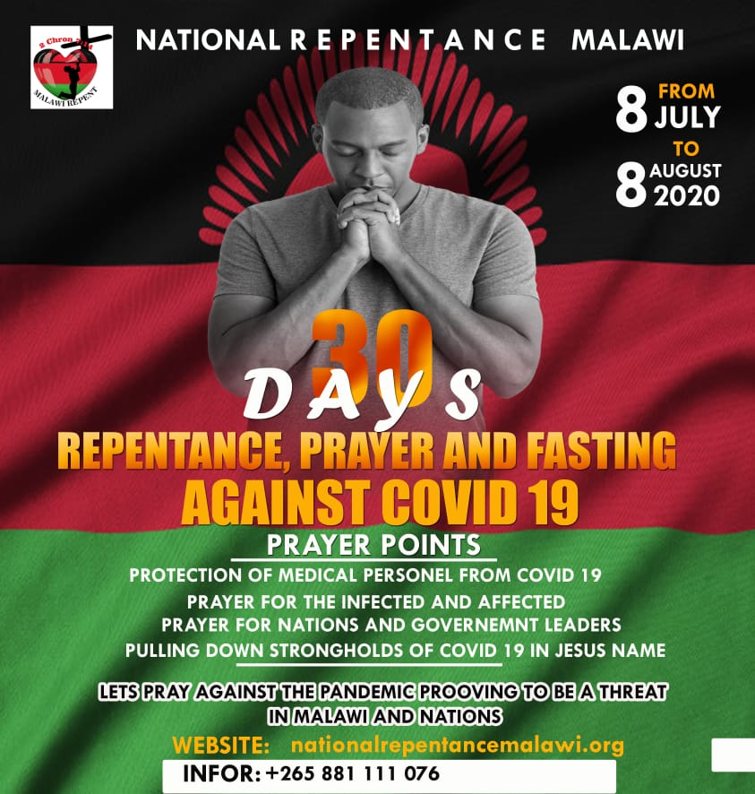 30 Days of Repentance Prayer and Fasting against Covid-19