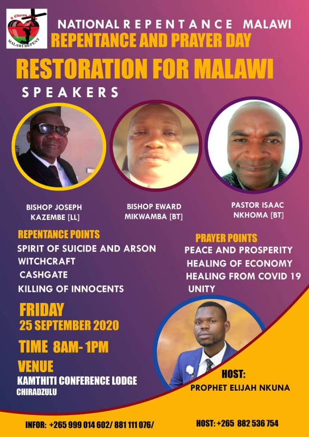 Repentance and Prayer Day - Restoration for Malawi