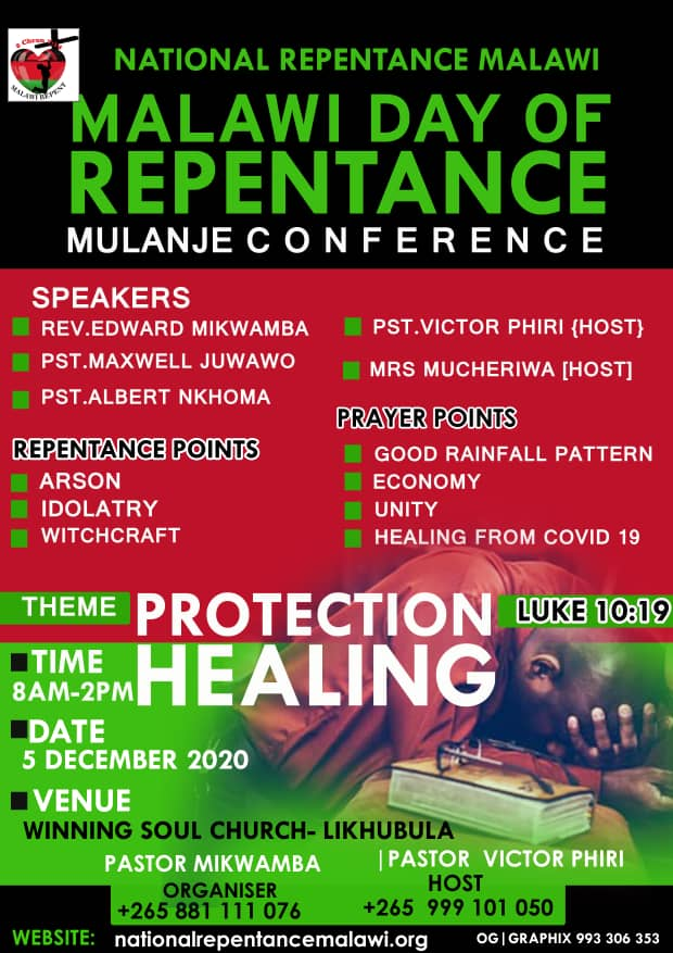 Malawi Day of Repentance - MULANJE - Protection and Healing for Malawi
